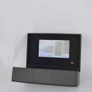 Custom huwelijkscadeau OEM papierformaat lcd-scherm gift box/uitnodiging card box/video card