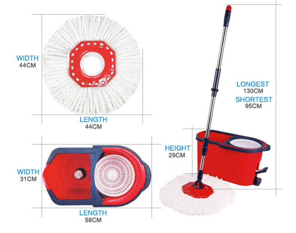 degree Magic Easy Cleaning Mop which Dry Wet amphibious wet mop, 360 degree spin floor cleaning easy bucket mop