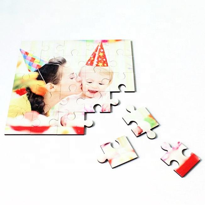 High definition printing mdf sublimation puzzle with free samples