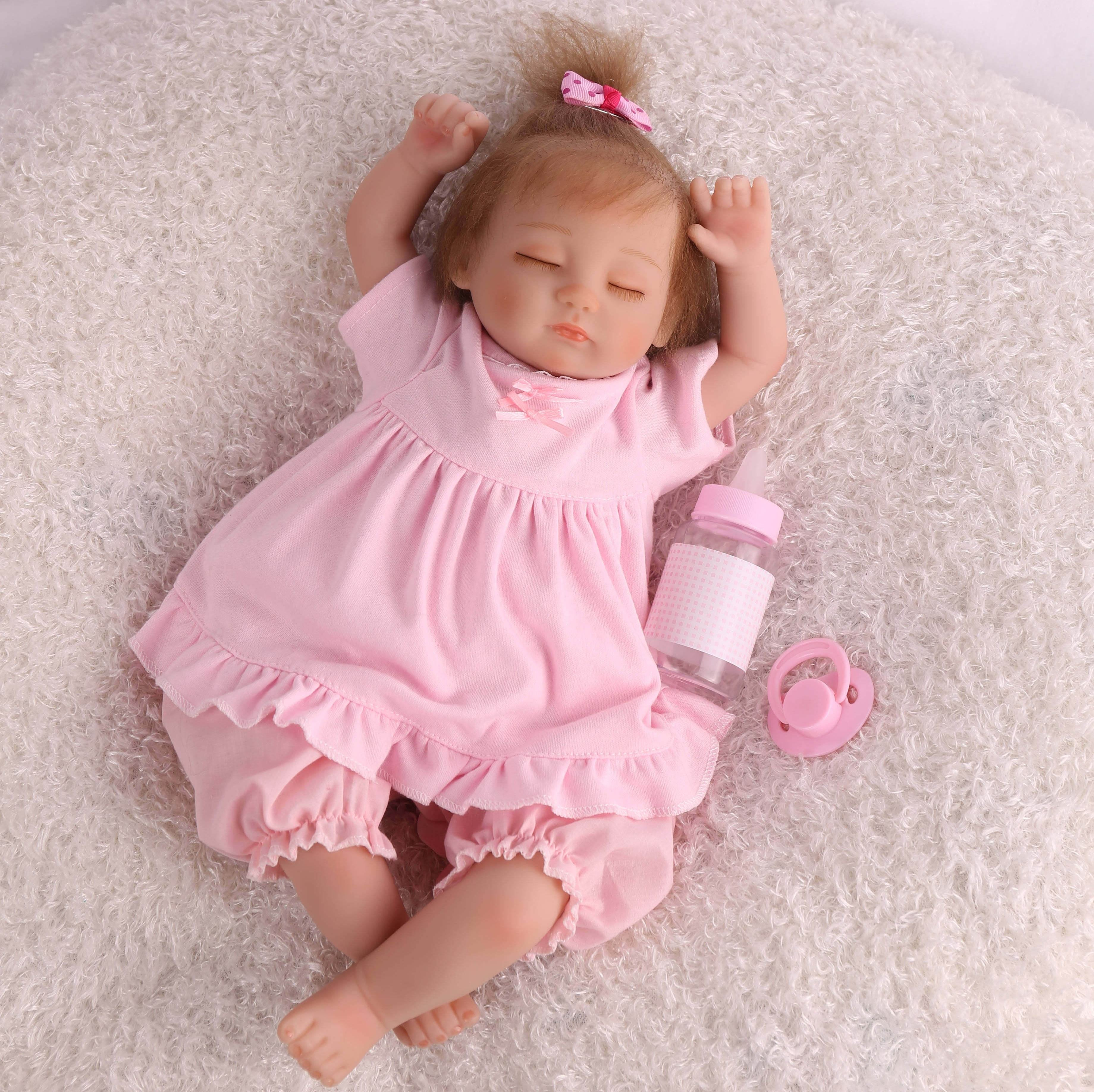 16 inch 40cm bebe reborn silicone cheap from china sleeping doll boneca bebe reborn reborn baby dolls for kids