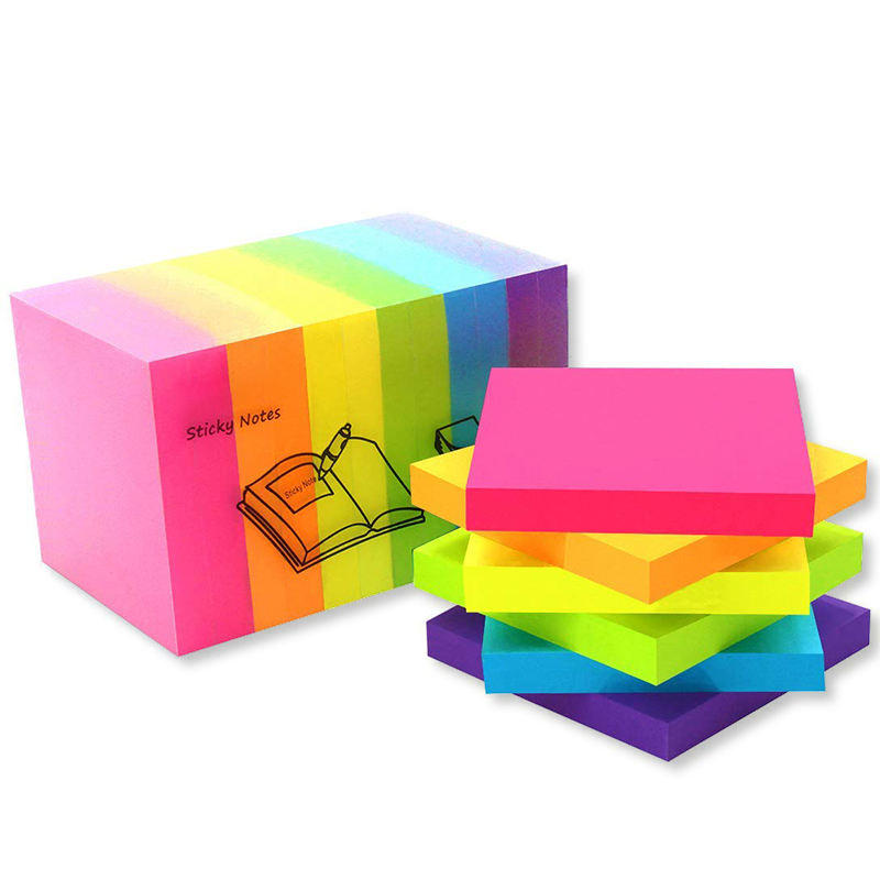 Fluorescent index plastic sticky note colorful PET page marker adhesive sticky note Memo Pads