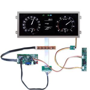 ultra-wide stretched lvds automotive ips lcd display 12.3 inch tft 1920x720 with hdmi control board high brightness 850 cd/m2