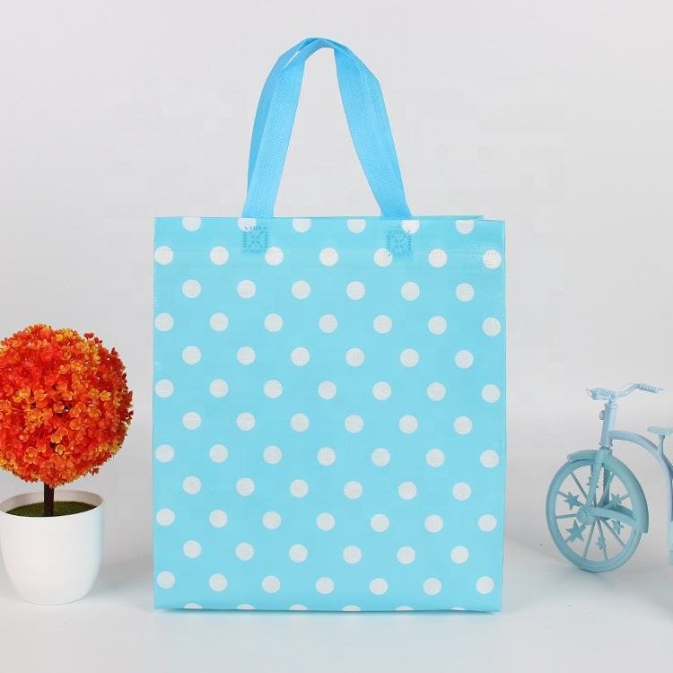 Different color Eco non-woven shopping bag Pouch Tote Handbag custom folding shopping bags