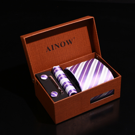 China latest fashion Low MOQ 27 color stock neck tie for man woven 100% silk neck tie sets with box