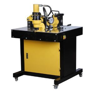 hydraulic electric powered 3-in-1 busbar processing machine