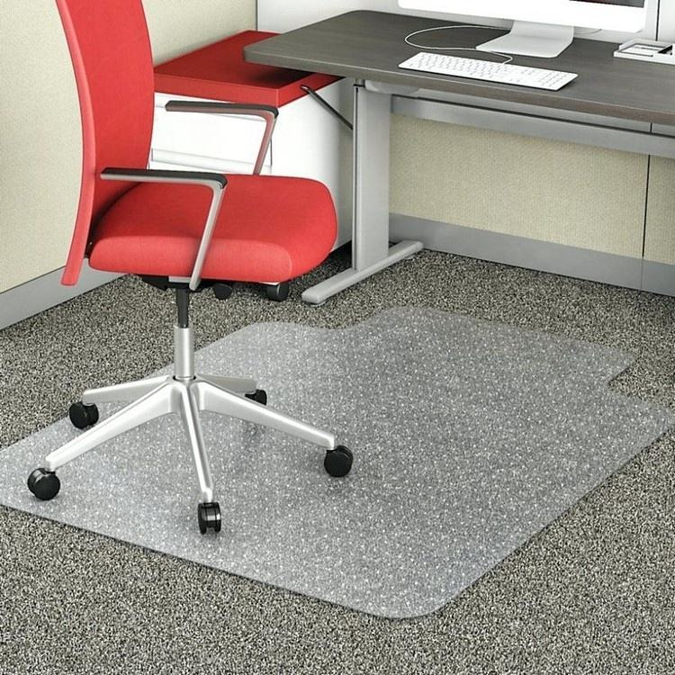 Home Office Pc Bureau Anti Slip Clear Dull Poolse Spiked Plastic Roll Vloeren Deur Tapijt Stoel Vloermat Met Studded backing
