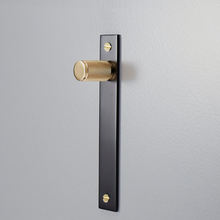 Modern luxury black bright gold knurled handle and knob C-0925