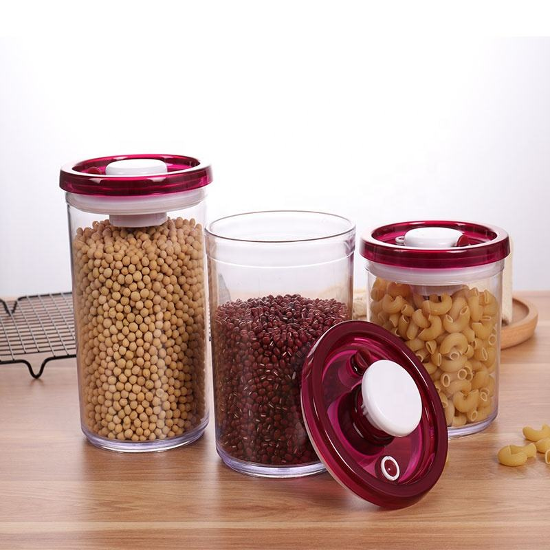 Kitchen Canister Insulated Can Sealer Flask Vaccum Jars Food Storage Canister Set