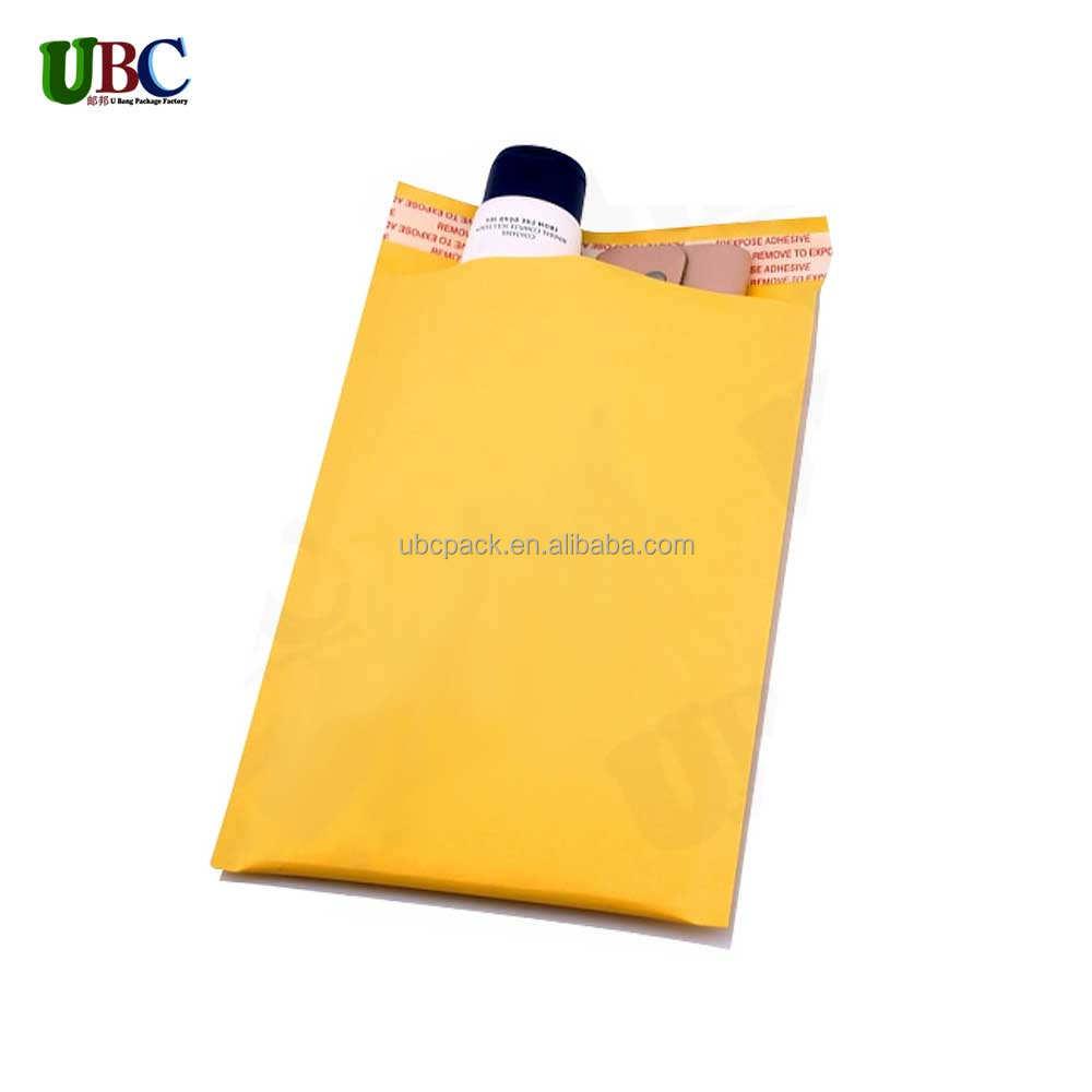 Bubble amortecido Mailer <span class=keywords><strong>Sacos</strong></span> de Embalagem Adesiva/À Prova D' Água Da Bolha Envelopes/<span class=keywords><strong>5x10</strong></span> polegadas Kraft Bolha Envelope