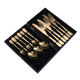 Gold Cutlery Set Gold Stainless Cutlery Set Gold Plating Stainless Steel Spoon Steak Knife Fork Flatware Cutlery Set With Gift Box