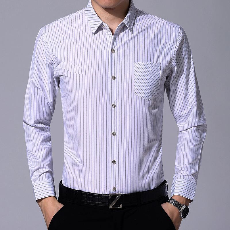 Последние демисезонный Новое поступление классический с длинным рукавом custom fit плюс размеры человек блузка