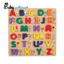 2019 New sale educational word puzzle games wooden alphabet puzzle toys for babies Z14112B
