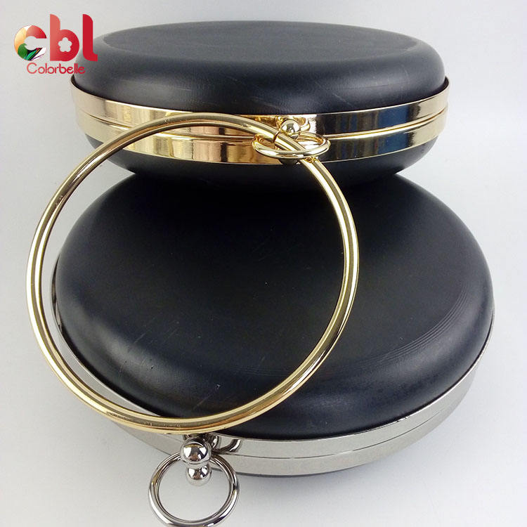 2019 Hot Sale 18cm Round Shape Box Metal Coin Purse Oval Frame
