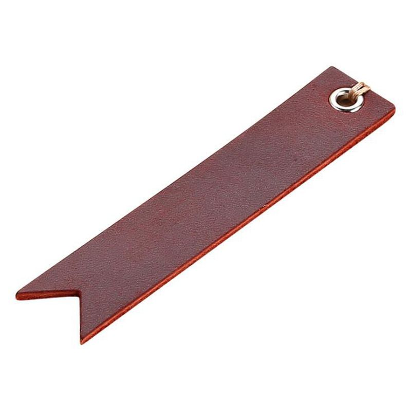 Dreamtop DTF278 free sample mini gift bookmark vintage style custom leather bookmark with private label