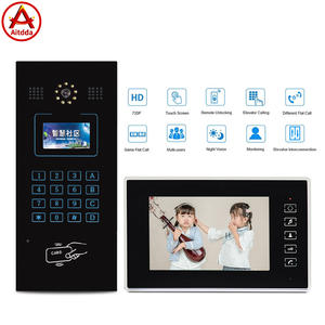 Aitdda 7 Inch Wifi Touch Screen Multi Appartement Video Deurtelefoon Building Audio Video Intercom Systeem Voor Appartementen