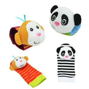 new arrival colorful baby wrist rattle foot socks plush toy manufacturer