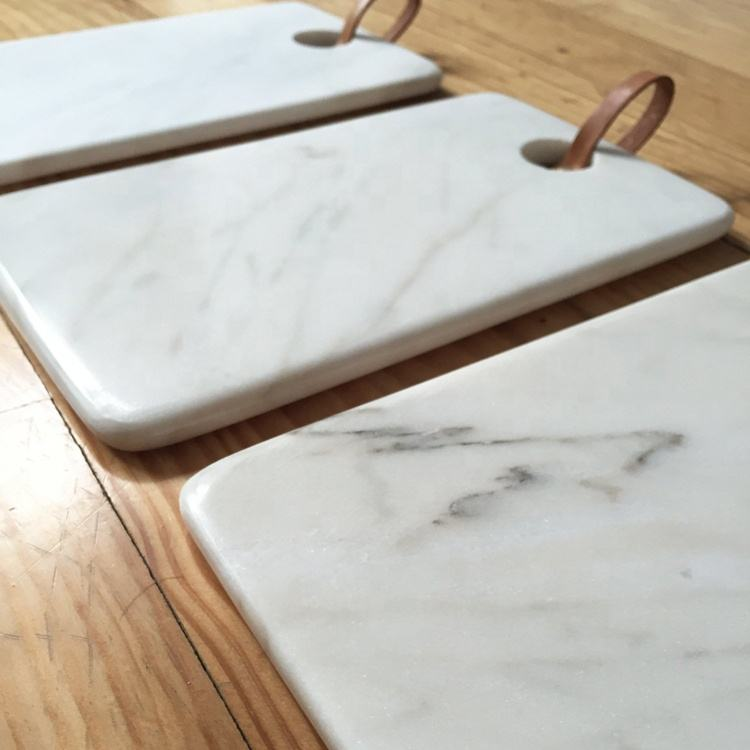 Wholesale Natural Stone Carrara White Marble Cheese Board,Custom Design Marble Cutting Board