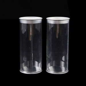 Customized size clear plastic tube food box packaging with lid