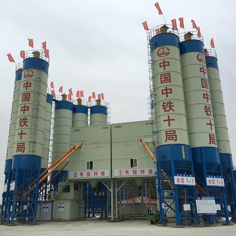 Электроагрегатная цементная бетонная станция