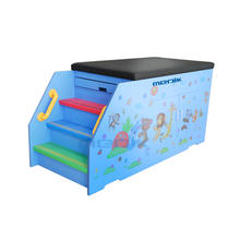 Cartoon Design Pediatric  Examination Couch With Openable Cabinet