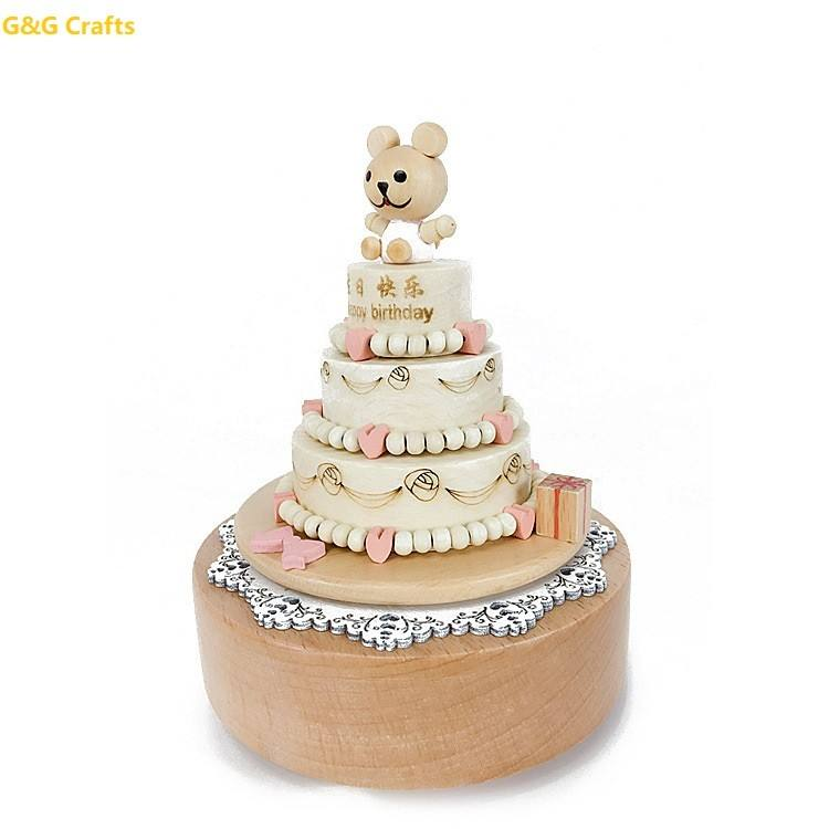 Chinese Manufacturer Wood Music Box Attractive Birthday Gift