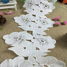 fashion 3d flower applique trim for bridal fabric