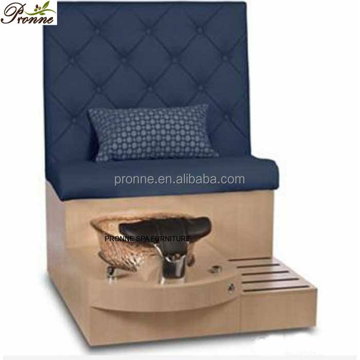 China high quality multifunction navy blue victorian spa chairs/single pedicure benches