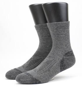 Custom Gray 20-30 mmhg Coolmax 하이킹 울 Socks 대 한 Men 및 Women