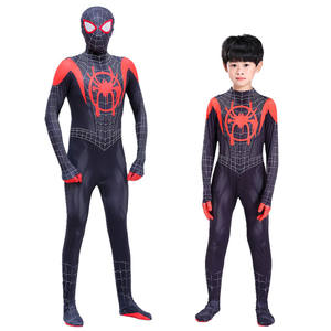 Wholesale Handsome Parent-chil Parallel Universe Little Black Spider Tights Adult Anime Cosplay Spiderman Halloween Costume Kids