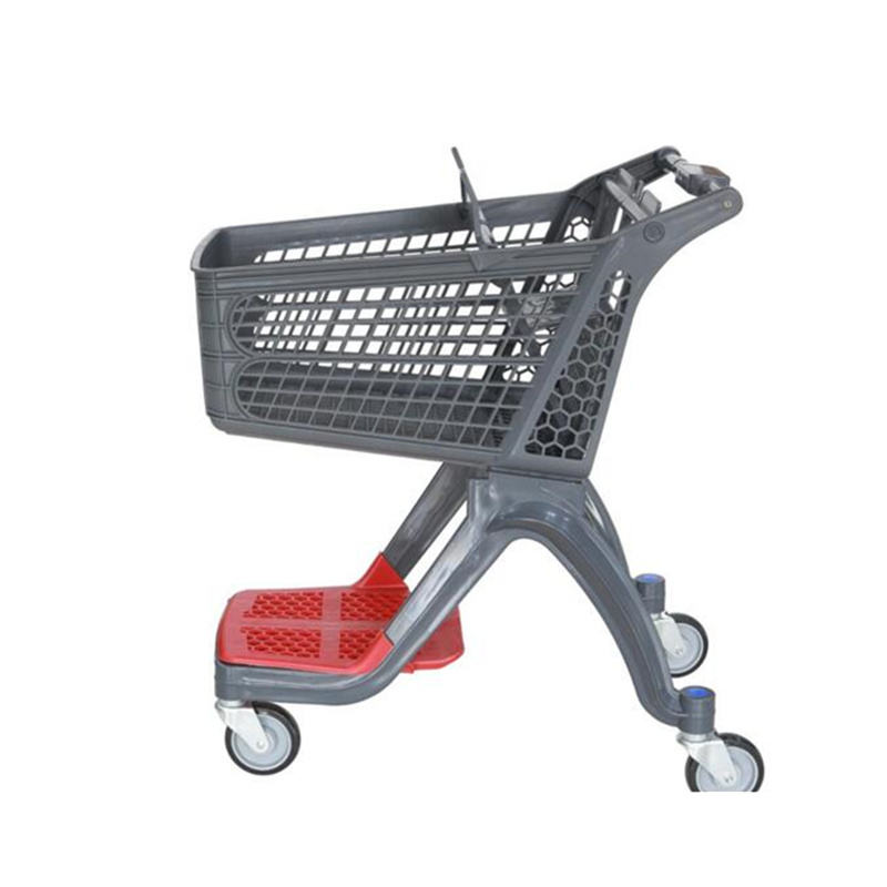 New PP plastic cart Suzhou factory shopping trolley bag plastic trolley