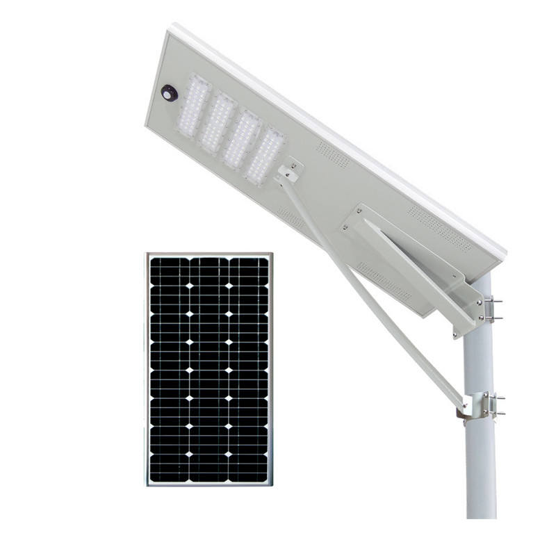 New Aluminum All In One Street Light with Motion Sensor Integrated Led Solar Street Light 80W
