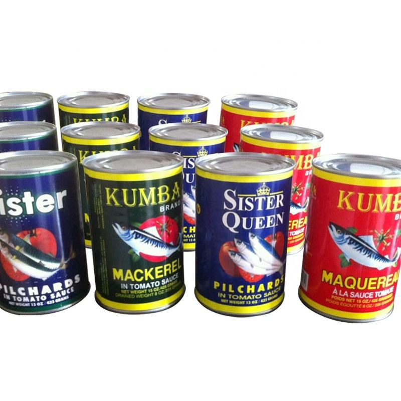 Canned Mackerel Fish In Brine ,Canned Mackerel In Tomato Sauce 155G/200G/425G