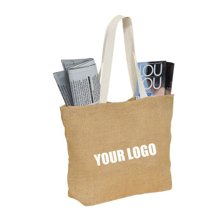 Storage Reusable Shopping Tote Bags Eco Jute Reusable Shopping Linen Tote Storage Jute Bag