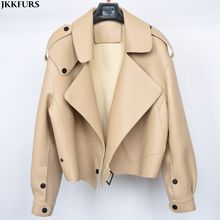 New Arrival Crop Design Leather Jacket Genuine Hot Leather Coat Motorcycle Jacket Fashion