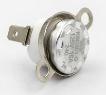 KH KSD301 125V 16A 250V 10A 250V 16A 110/115/120/125/130/135/140 Fixed Temperature Switch Bimetal Disc Thermostat