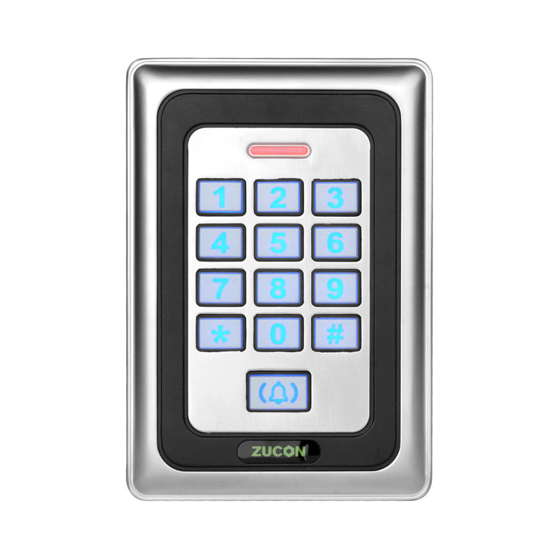 Touch metal waterproof password card in metal housing access control device