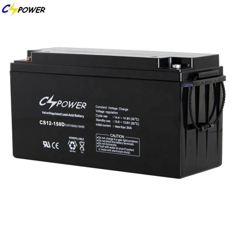12V 150AH Sealed Rechargeable Dry Deep Cycle Agm Battery For Solar