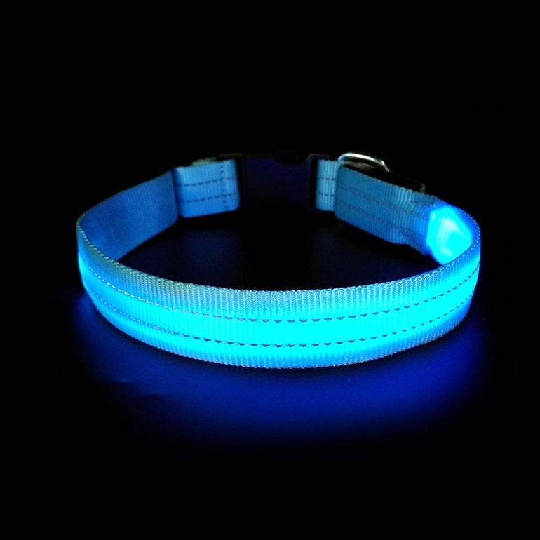 Custom Made Pets Accessories Innovative Products Working Service Fluorescent Illuminated Led Dog Collar