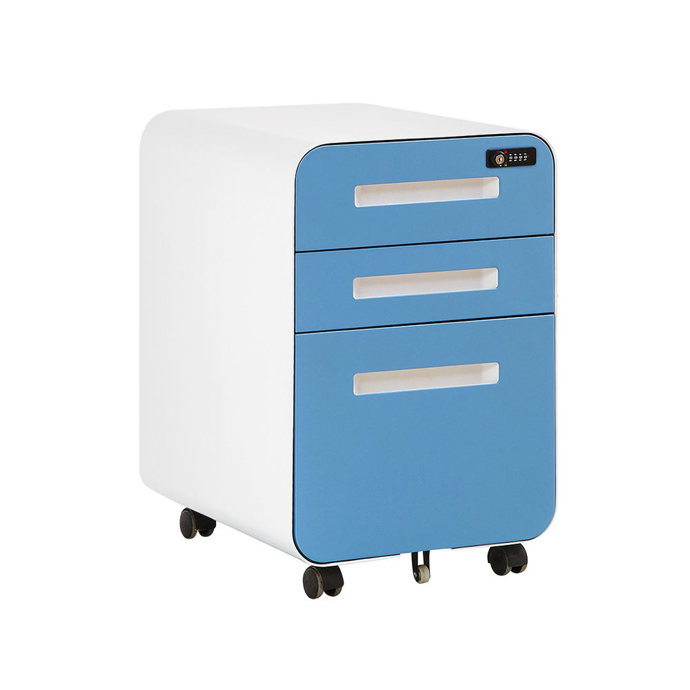 new fashion design small drawers 4 door metal two tier filing cabinet
