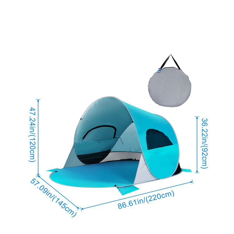 Portable beach 2 person Outdoor camping Automatic Baby Pop Up fishing dome tent