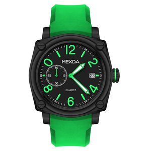 Low price wholesale custom printed logo design big face square case shape silicone band waterproof quartz analog wrist watch