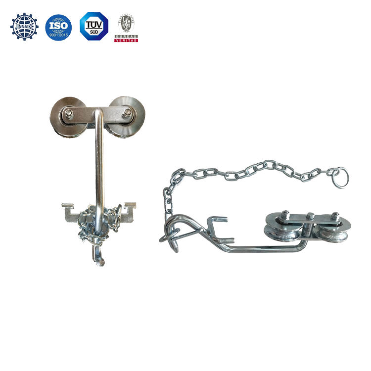 Farm Hanging Door Roller with Chains Double bearings farm Agricultural products white zinc