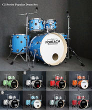 Hot Sale FOREACH Wrapped Acoustic Drum Set Drum Kit