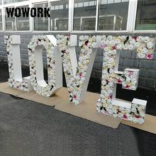 2020 WOWORK giant big 4ft flower floral LOVE letters alphabet engagement wedding decoration props
