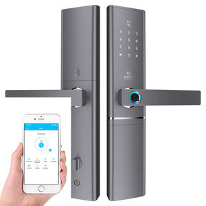 Smart mode noir/or sécurité intelligente biométrique d'empreintes digitales cadenas bluetooth avec alarme pour appartement à la maison de bureau