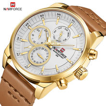 NAVIFORCE 9148 Japan Movement Water Proof Best Price Men's Watches in Wristwatches Fashion Casual Quartz 24 Hours Date Watch