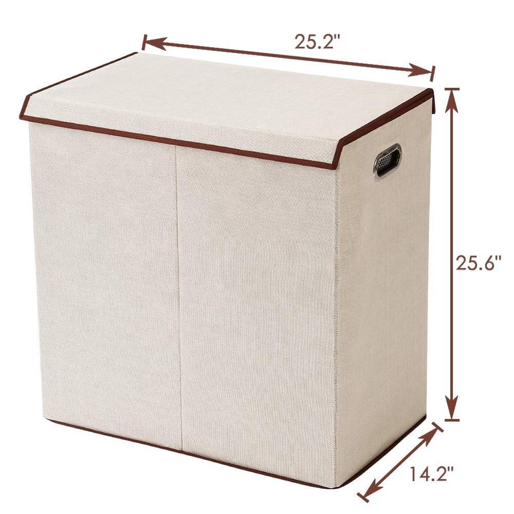 Hot Sale Nursing Homes 2 Compartment Linen Laundry Basket