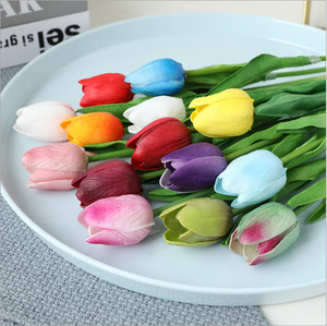 PU Tulips Artificial Flowers Real touch Artificial Flower For Home Decor