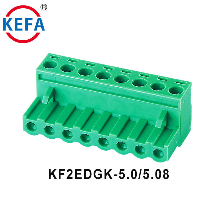 PCB pluggable terminal block Brass cage 5.0mm 5.08mm pitch KF2EDGK-5.0/5.08