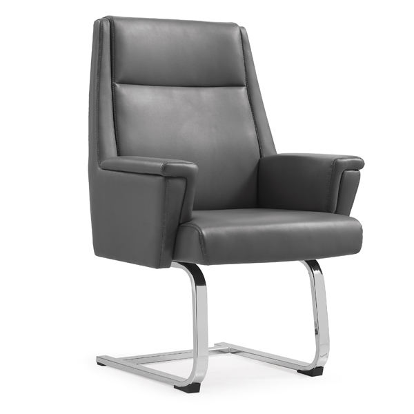 Mid Back Metal Frame Leather Office Wing X Back Support Chair
